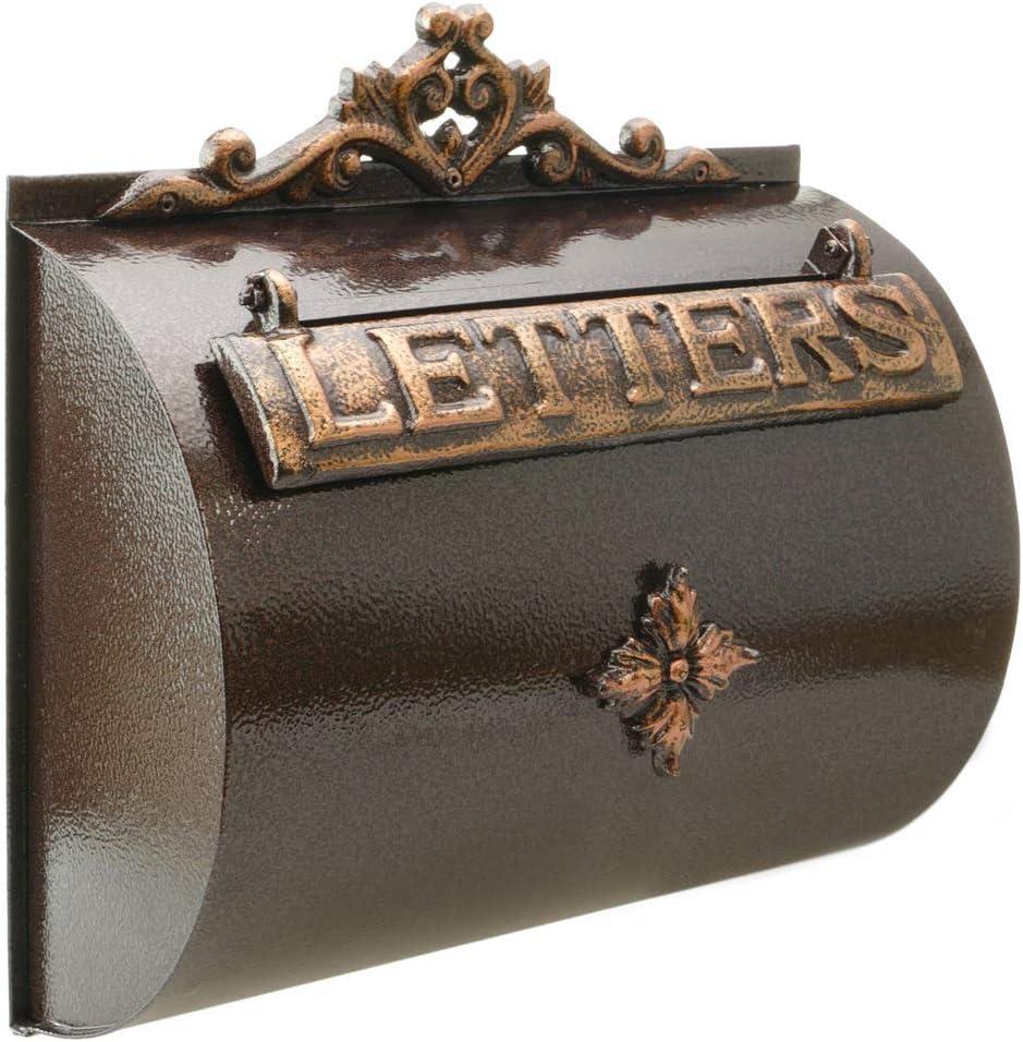 PrimeMatik - Buzón Antiguo de Hierro colado para Cartas y Correo Postal de Color óxido
