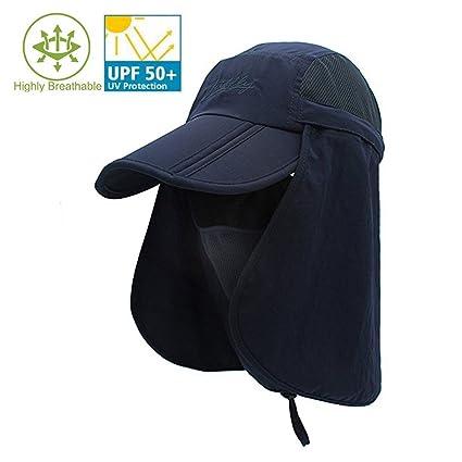 b448f4c0a65 Amazon.com   Imonet Quick-Drying Fishing Hat Sun Cap for Men Women ...