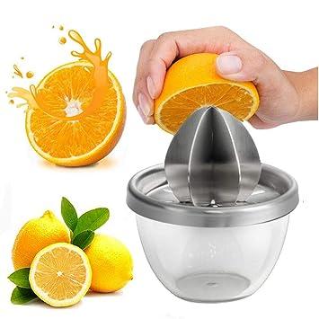 Compra LongcMall - Exprimidor de Limones de Acero Inoxidable, exprimidor de Zumo Manual en Amazon.es