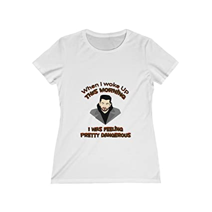 16639dcae Image Unavailable. Image not available for. Color  KustomTeez Women s Baker  Mayfield T-Shirt I Woke Up Feeling ...
