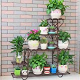 Multi-Storey Flower Stand Iron Art Balcony Living Room Floor Flowerpot Rack, Bronze, Large 882595Cm Plant Multifunctional Flower Display Stands Wood Pot Shelf Storage Rack Outdoor Indoor Pots Holde