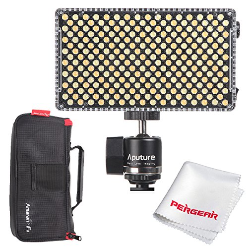 Aputure AL-F7, Aputure H198 Upgrade Ver 256 LED Bi-Color Dimmable Led Video Light, CRI95+ TLCI95+, 3200-9500K Adjustable, Stepless Brightness Control, Multiple Charging Methods, Lightweight Compact