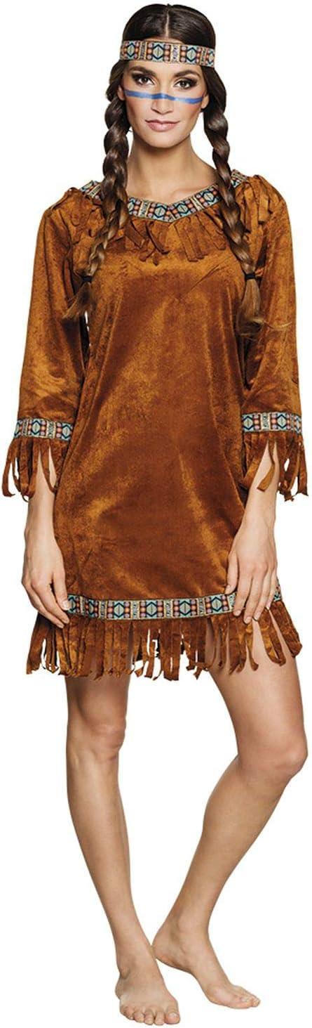 Boland 83873 - Disfraz de India para Adulto, Talla M, Color marrón