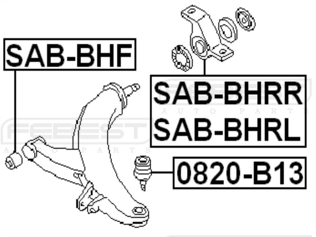 FEBEST SAB-BHRL Control Arm Bushing