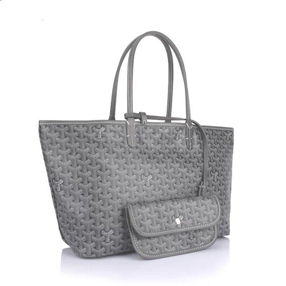 Bagcollector Fashion Shopping Shoulder Tote Bag Set(Grey)