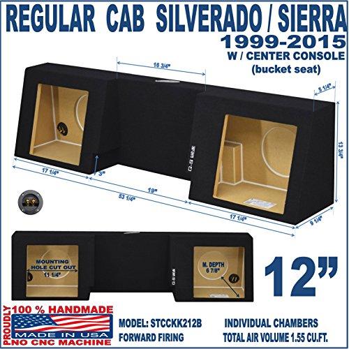 Chevy 1500 Regular Cab (1999-2015 Chevy Silverado Sub Box GMC Sierra Regualr Cab 12