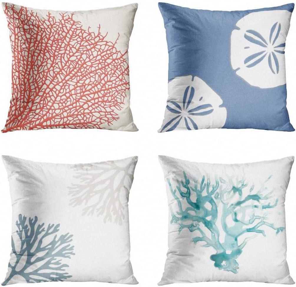 coastal beach rose anchor cushion cover decorative pillow case
