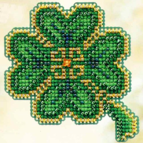 Mill Hill Treasures - Lucky Day Beaded Counted Cross Stitch Ornament Kit Mill Hill 2010 Spring Bouquet MH18-0102