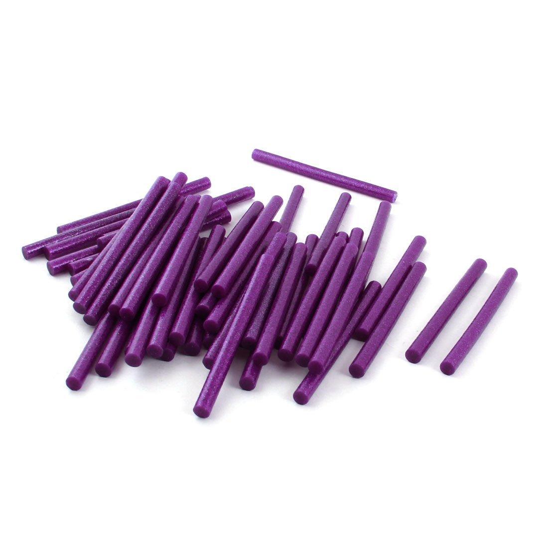 50 Pcs Violet Hot Glitter électrique Melt Glue adhésif bâton 0,28 'x 4'