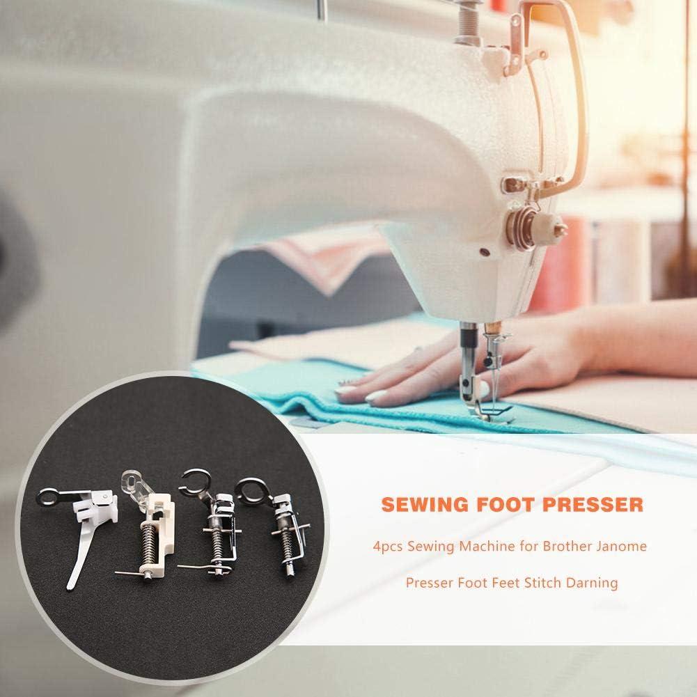 Pie de maquina de coser Costura de pie prensatelas con incrustaciones de sat/én corto transparente Prensatelas Universal Broadroot