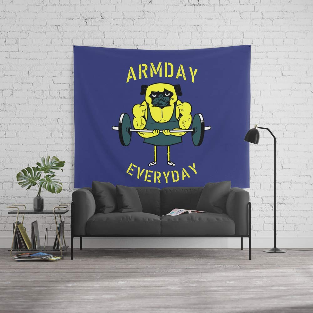 Society6 Wall Tapestry, Size Large: 88'' x 104'', Armday Everyday by pugsgym by Society6