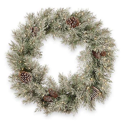 """National Tree Frosted Pine Berry Wreath, 24"""", Green -  ADULT"""