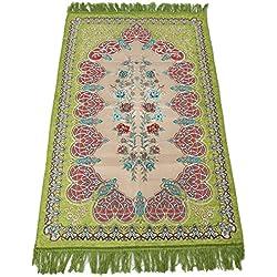 Sajda Rugs Turkish Prayer Mat Carpet, Prime (Green)