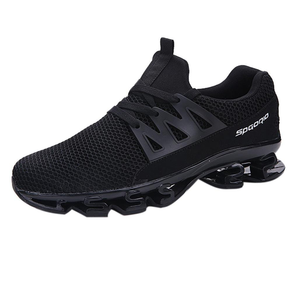 Mens Running Sneaker,2018 Novelty Casual Mesh Breathable Slip On Outdoor Sports Shoes (Black, US:10)