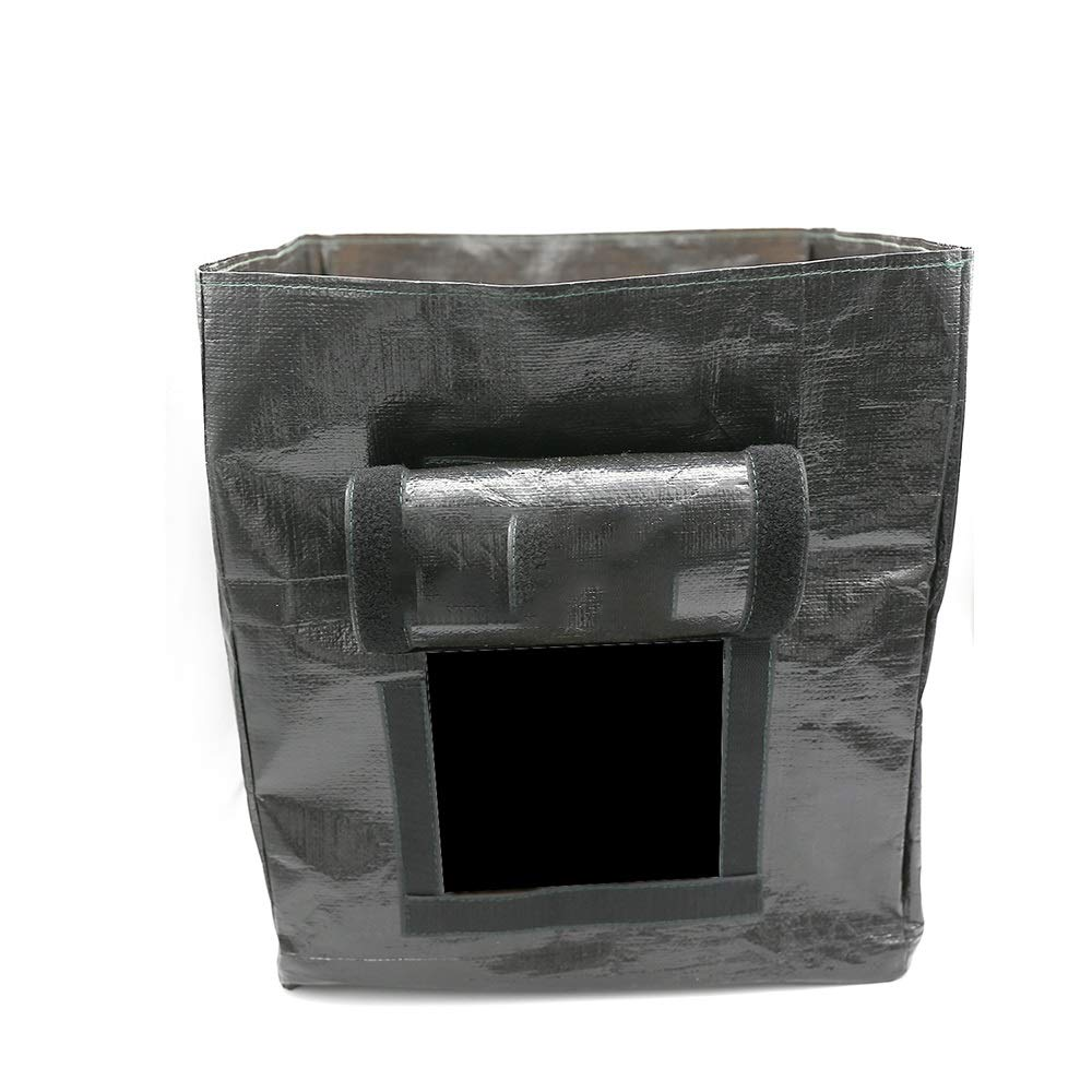 Cherlvy Reusable Garden Deciduous Storage Bag Black Gardening Bag PE Bag by Cherlvy