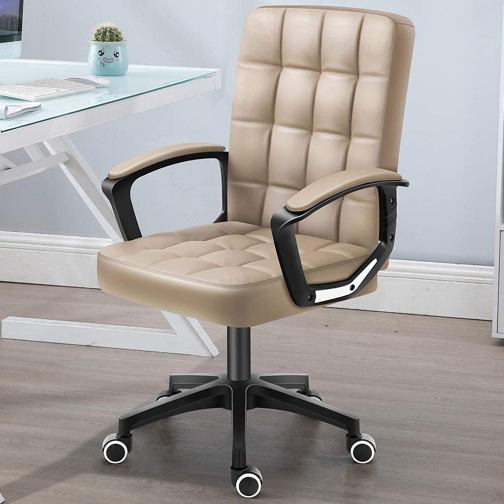 XXQ Executive Office Desk Chair, Thick Padding for Comfort Ergonomic Design for Lumbar Support Office Chair with Metal Frame,B