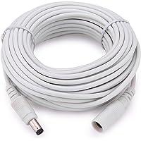 Tonton DC Verlängerungs Kabel 10Meter (33ft) 2.1mm x 5.5mm Kompatibel mit 12V DC Adapterkabel DC Verteiler Verlängerungskabel für CCTV Sicherheitskamera IP Kamera Einzelgerät DVR (Weiß)