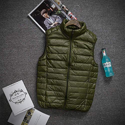 Quilted Lightly Vest Warm Clothing Comfortable Jacket Down Men Down Sizes Mens Coat Grün Vest Sleeveless Padded Vests Zipper Vest Winter Coat fashion HX Jacket wxTPEE