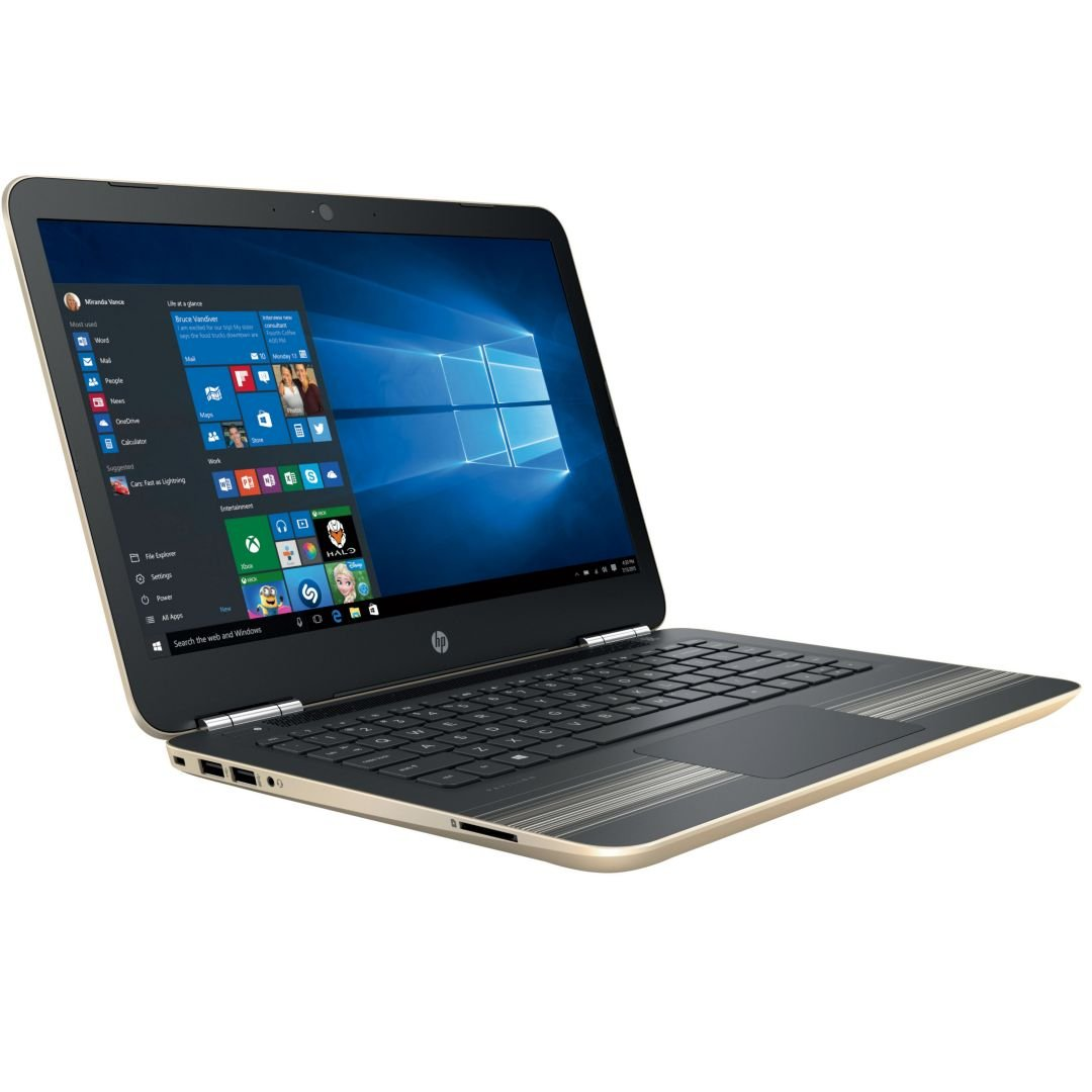 Premium HP Pavilion Business Flagship High Performance Laptop PC 14'' HD+ Display Intel i3-6100U Processor 8GB RAM 1TB HDD Backlit-Keyboard Webcam Bluetooth Windows 10-Modern Gold