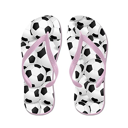 8cd20b4883ae59 Image Unavailable. Image not available for. Color  CafePress - Soccer Balls  - Flip Flops