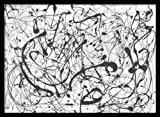 numbers art print - Framed Art Print, Number 14:Gray' by Jackson Pollock: Outer Size 29 x 21