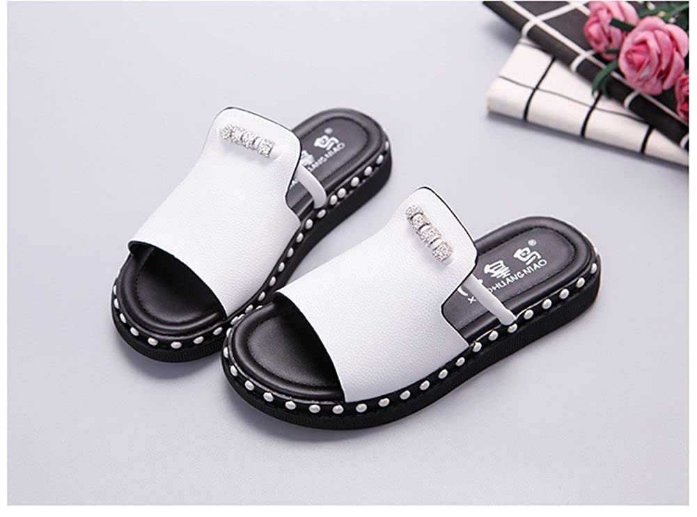 Mubeuo Outdoor Indoor Leather Sandals for Kids Girls Sandle