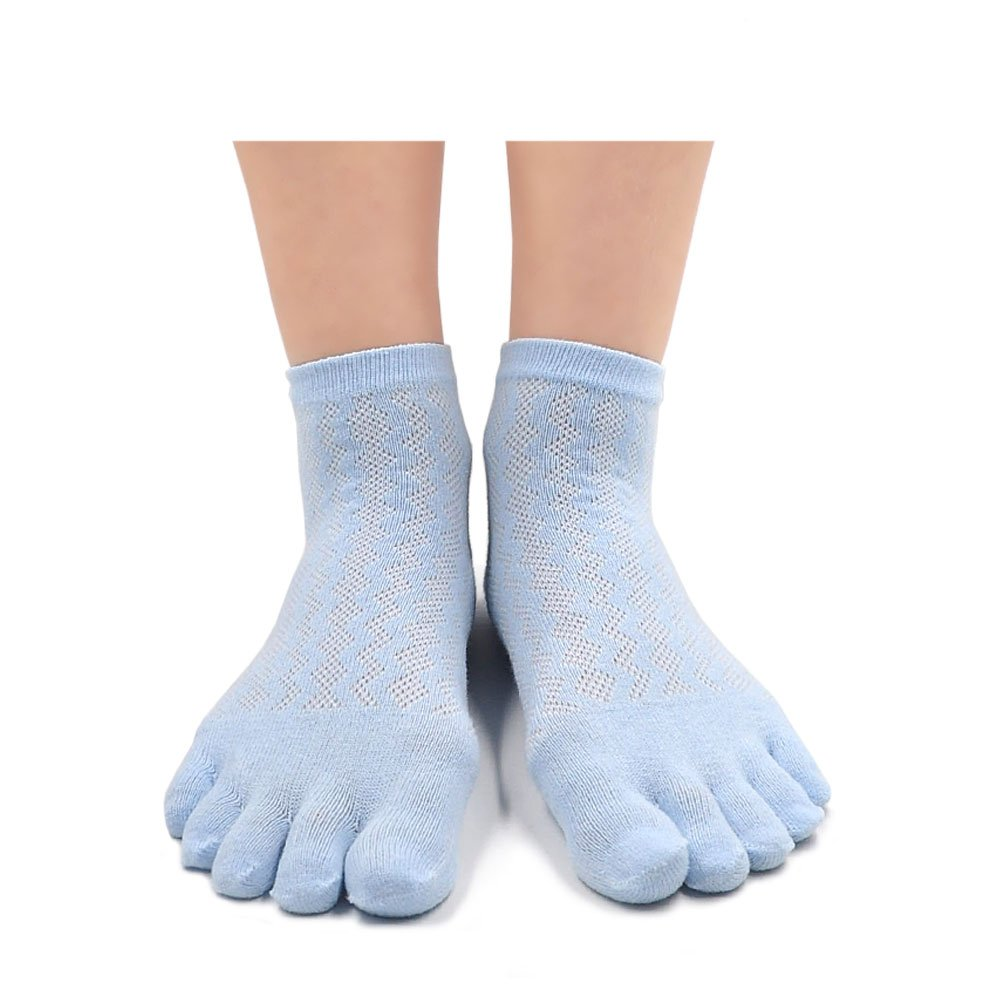 PUTUO Mujer cinco dedos calcetines de deporte, Calcetines de dedos ...