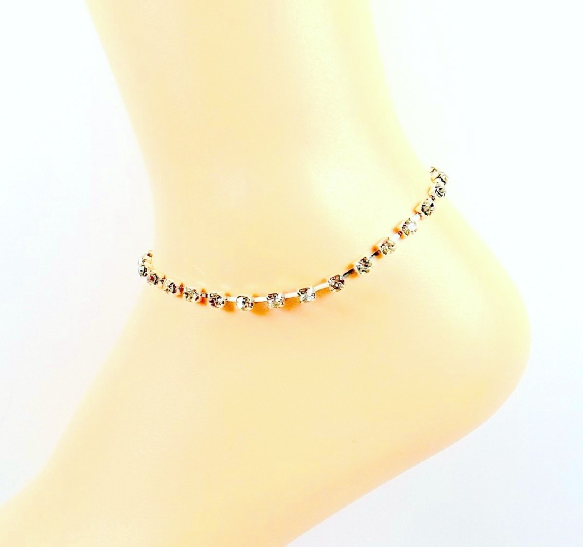 anklets drop bracelet ankle chain htm yellow links anklet gold bracelets sexy dangle tennis