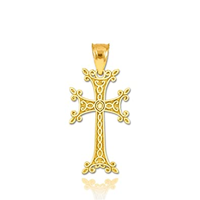 Amazon Religious Jewelry By Fdj Solid 14k Yellow Gold Armenian