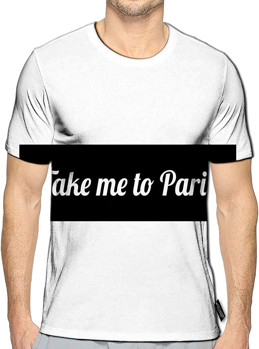 T-Shirt 3D Printed Quote Take Me to Paris Casual Tees