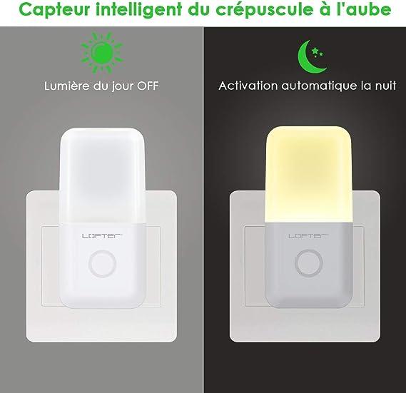LOFTer luz nocturna infantil 4 en 1, regulable con 3 niveles de luz diferentes, con sensores y LED Plug and Play, ideal para dormitorio, escalera, etc, nuevo diseño (4 piezas): Amazon.es: Iluminación