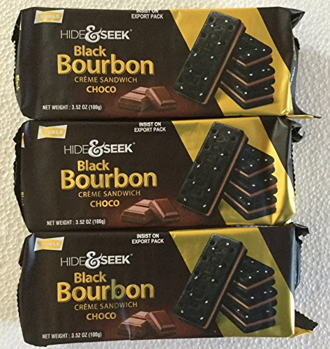 (Parle Hide & Seek Black Bourbon Choco Creme Sandwich - 100 Grams (Pack of 3) )