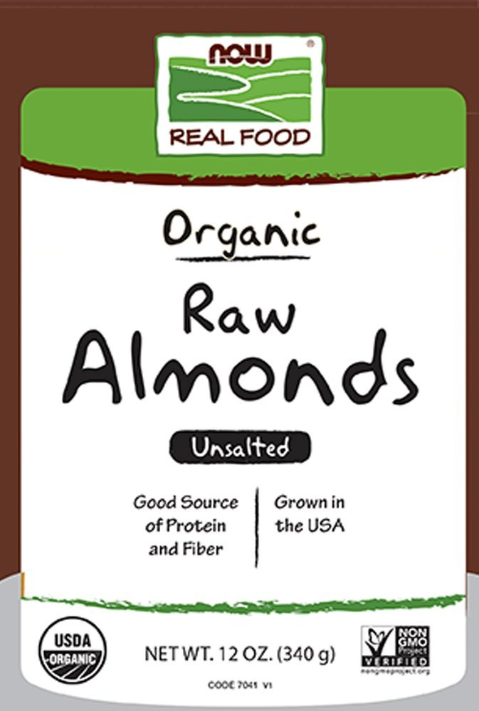 Organic Raw Almonds Now Foods 12 oz Seed by Now Foods