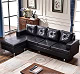 Harper & Bright Designs Modern Style Living Room L Shape Sectional Sofa with Reversible Chaise Lounge (Dark Brown)