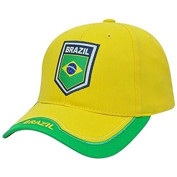 ac5e698fd47 Brazil Rhinox Brasil Cap Hat Gorra Soccer Futbol Football Sun Buckle Curved  Bill