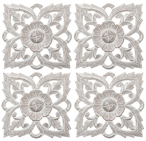 Set of 4 Antique White 8