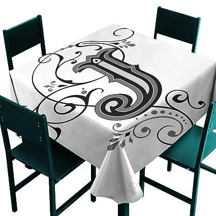 Amazon com: Glifporia Wholesale tablecloths Letter J,Shabby