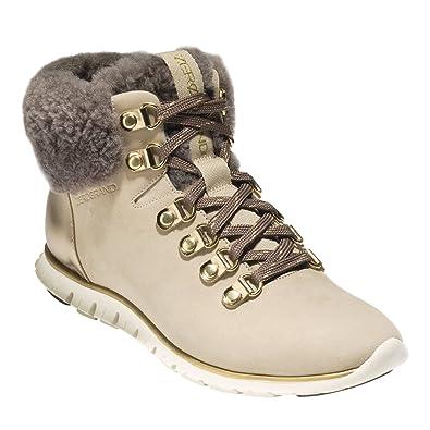 e4f67b6158360 Cole Haan Womens ZEROGRAND Waterproof Hiker Boot 8 Warm Sand Waterproof  Nubuck-gold Specchi