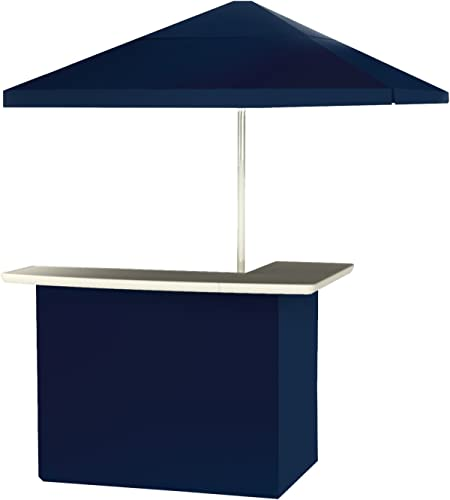 Best of Times 2001W1314 Navy Blue Solid Portable Bar and 8 ft Tall Square Umbrella, One Size