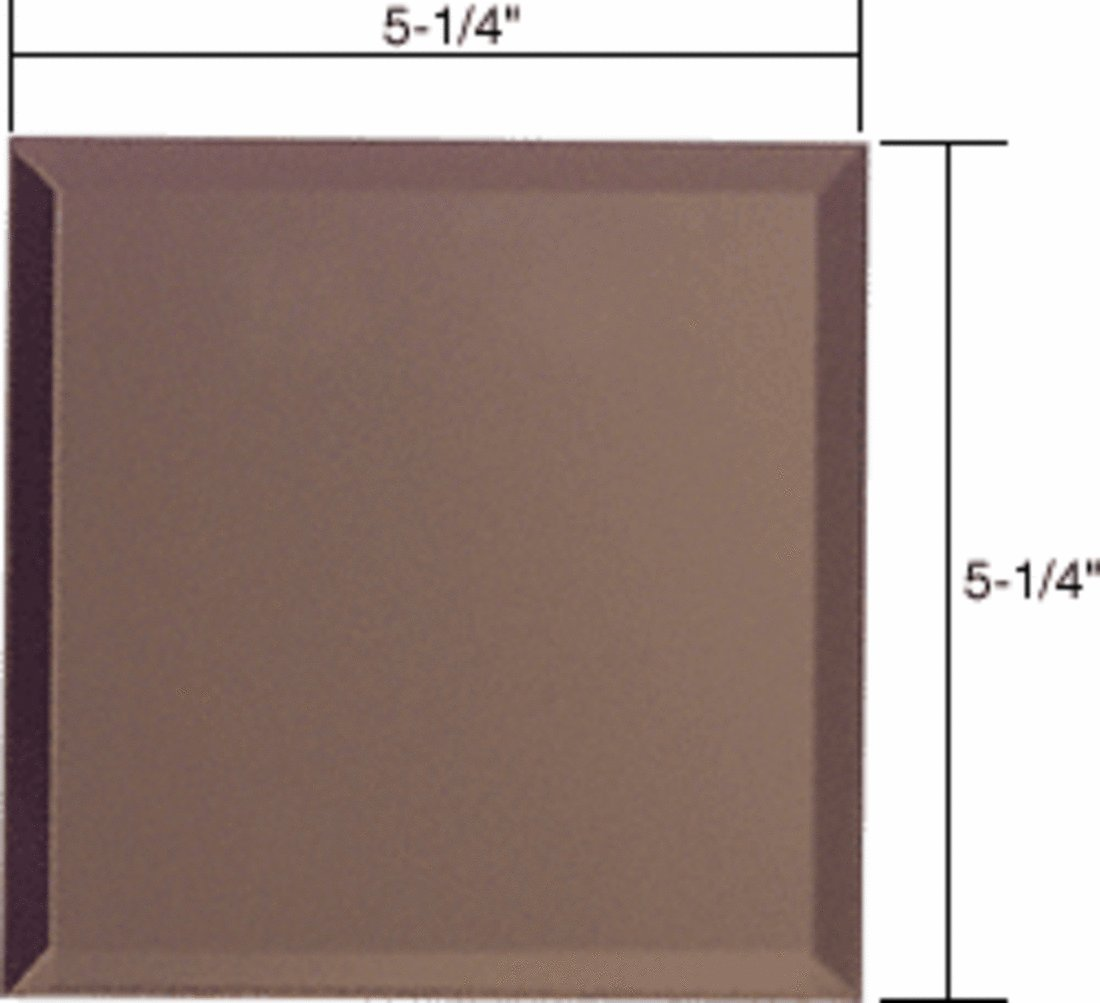 CRL Double Blank Without Screw Holes Glass Mirror Plate-Bronze
