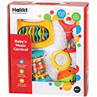 Halilit HL3004 Toddler Music Carnival Musical Instrument Gift Set, 8""