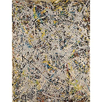 Number 14 Gray by Jackson Pollock Art Print Abstract Poster 11x14