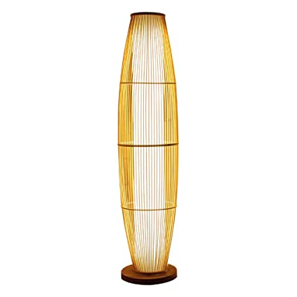 Amazon.com: TangMengYun Modern LED Floor Lamp, Classic Bamboo ...