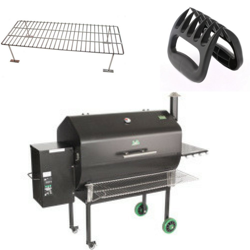 Green Mountain Grill Jim Bowie Front Shelf, Upper Rack & BBQ Shredding Claws Combo