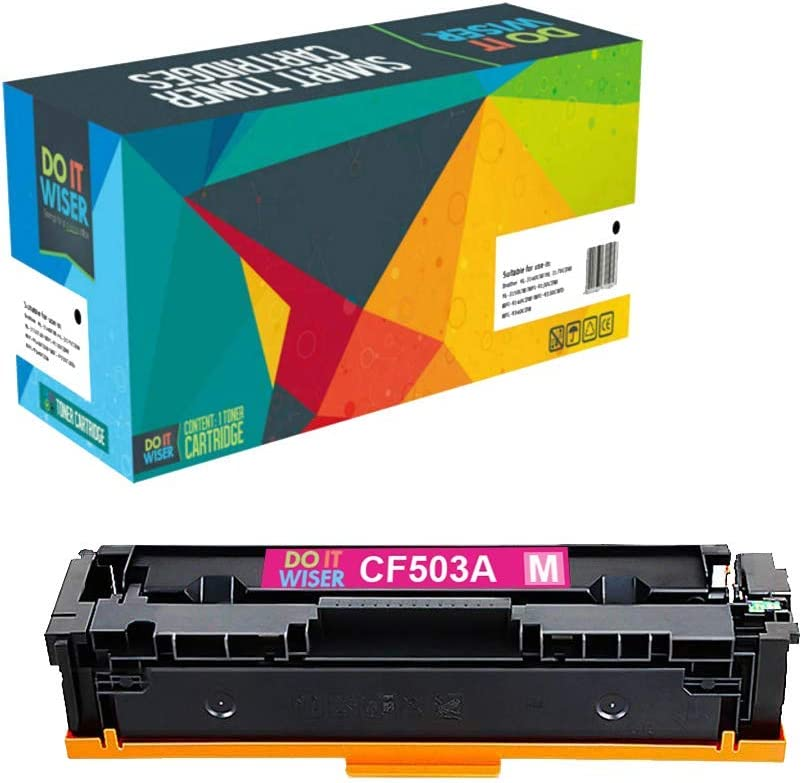 Do it Wiser Compatible Toner Cartridge Replacement for HP 202A CF503A for use in HP Laserjet Pro M281fdw M281cdw M254dw M254nw M254 M280 M281 (Magenta)