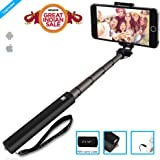 ZAAP NUSTAR4 Extendable Premium ALUMINIUM Selfie Stick (Battery-Free) with In-built Remote Shutter for iPhone, Android, Other Smartphones.