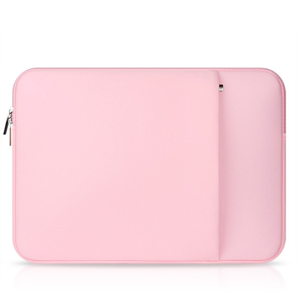 elecfan Laptop Sleeve Pouch,Compatible 15.6 Inch MacBook Pro Notebook Computer Samsung iPad Tablet,Multi-functional Briefcase Zipper Bag, Business Carrying Case with Pocket for Women - Pink