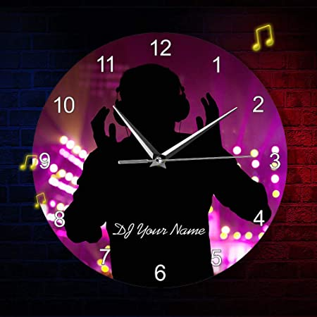 Vandelkt DJ Nombre Reloj De Pared Disc Jockey Tocadiscos Mezclador ...