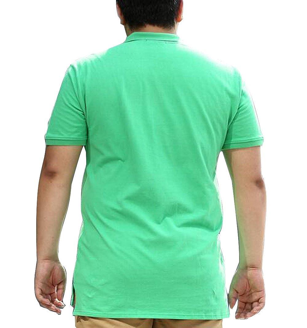 Only Faith Summer Men Loose Polo T-Shirt Plus-Size Button-down Collar T-shirt