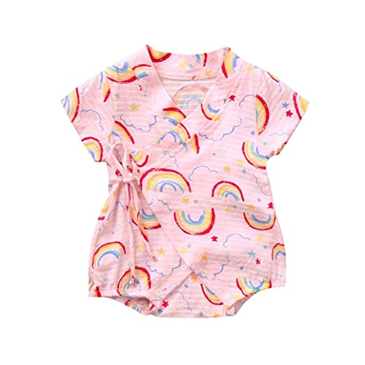 2090dd470 Amazon.com  Kehen Newborn Infant Baby Boy Girl Summer Clothes Cotton ...